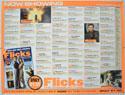 FLICKS DECEMBER 1999 Cinema Quad Movie Poster