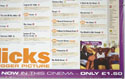 FLICKS FEBRUARY 2000 (Bottom Right) Cinema Quad Movie Poster