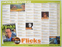 FLICKS NOVEMBER 1999 Cinema Quad Movie Poster
