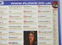 FLICKS OCTOBER 1999 (Top Right) Cinema Quad Movie Poster