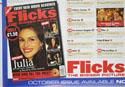 FLICKS OCTOBER 1999 (Bottom Left) Cinema Quad Movie Poster
