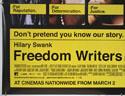 FREEDOM WRITERS (Bottom Left) Cinema Quad Movie Poster