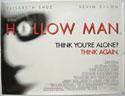 HOLLOW MAN Cinema Quad Movie Poster