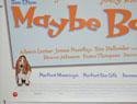 MAYBE BABY (Bottom Left) Cinema Quad Movie Poster