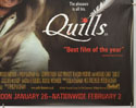 QUILLS (Bottom Right) Cinema Quad Movie Poster