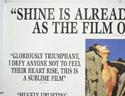 SHINE (Top Left) Cinema Quad Movie Poster