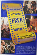 TALKING PAGES 1995 ADVERTISING POSTER Cinema Double Crown Movie Poster