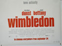 WIMBLEDON (Bottom Right) Cinema Quad Movie Poster