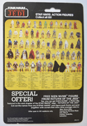 STAR WARS FIGURE –   LOGRAY (CARD BACK View)