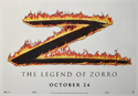 THE LEGEND OF ZORRO Cinema Window Cling Poster